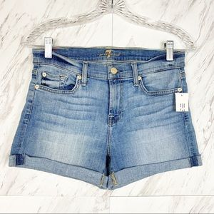 7 For All Mankind Roll Up Shorts in Willow Ridge